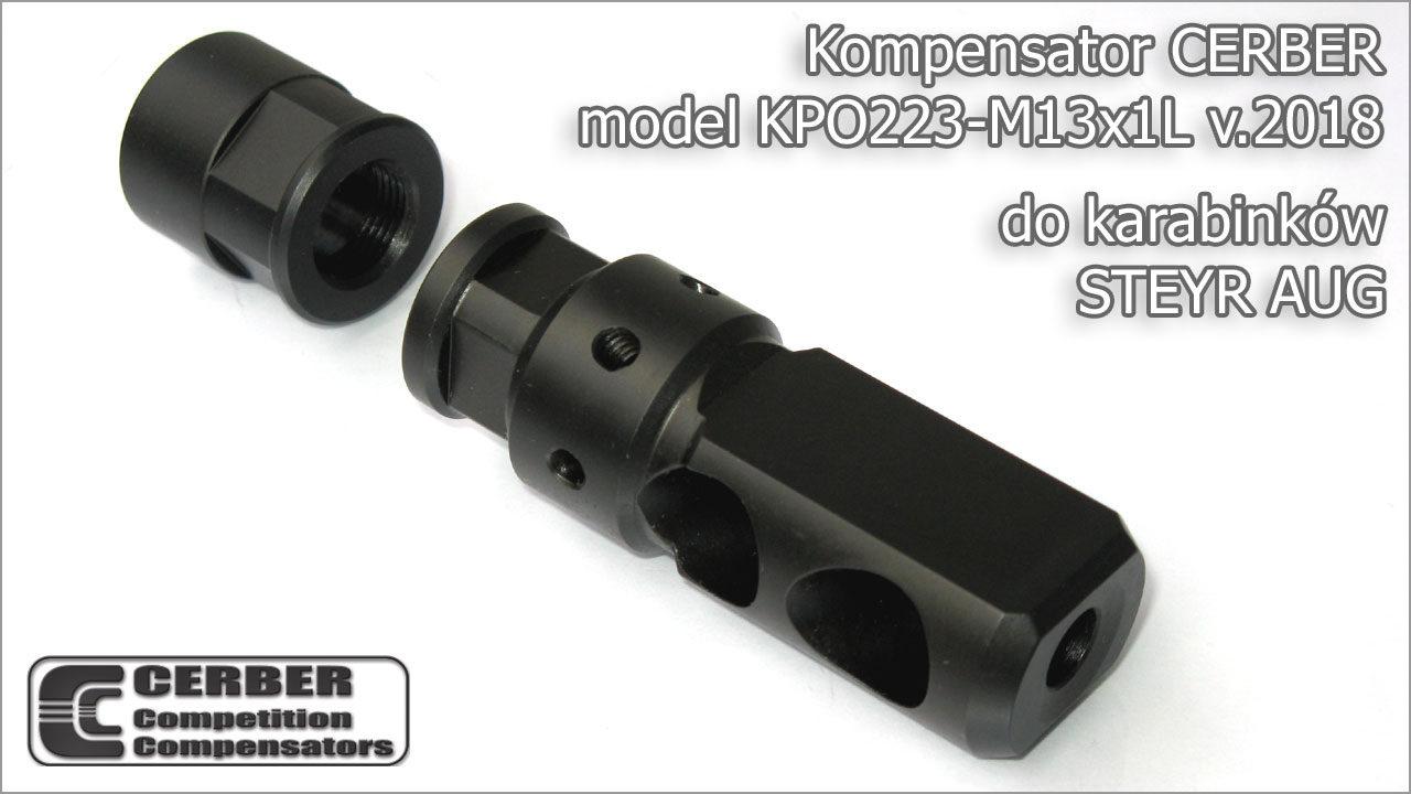 Kompensator Cerber KPO223-M13x1L v.2018 do STEYR AUG